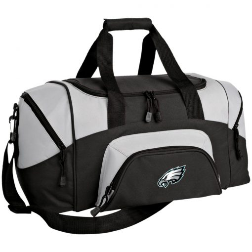 Philadelphia Eagles NFL Pro Line Gray Victory Small Colorblock Sport Duffel Bag