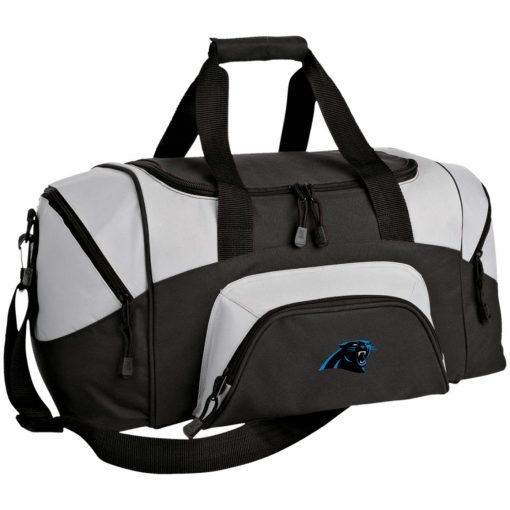 Panthers NFL Pro Line by Fanatics Branded Gray Victory Small Colorblock Sport Duffel Bag