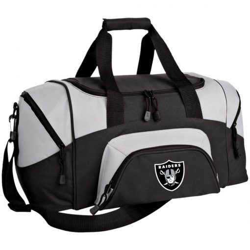 Oakland Raiders NFL Line by Fanatics Branded Black Victory Small Colorblock Sport Duffel Bag