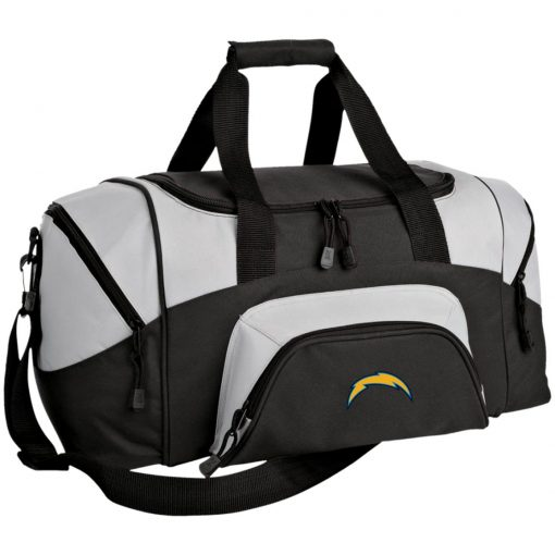 Los Angeles Chargers NFL Pro Line by Fanatics Branded Gray Victory Arch Small Colorblock Sport Duffel Bag