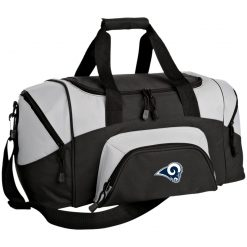 Los Angeles Rams NFL Pro Line by Fanatics Branded Gray Victory Small Colorblock Sport Duffel Bag