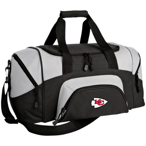 Kansas City Chiefs Line Gray Victory Arch Small Colorblock Sport Duffel Bag