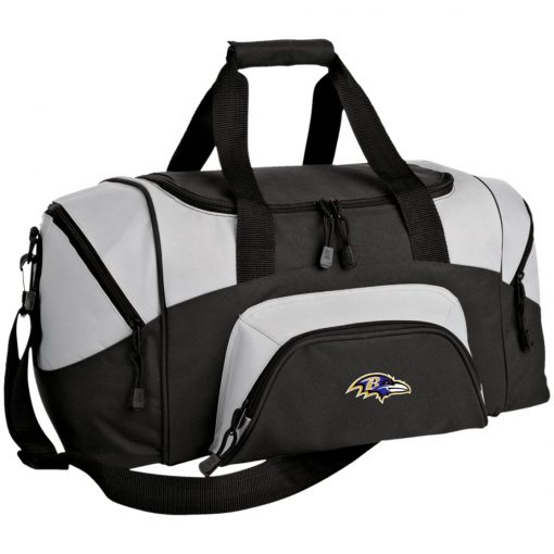 Baltimore Ravens NFL Pro Line by Fanatics Branded Gray Victory Small Colorblock Sport Duffel Bag