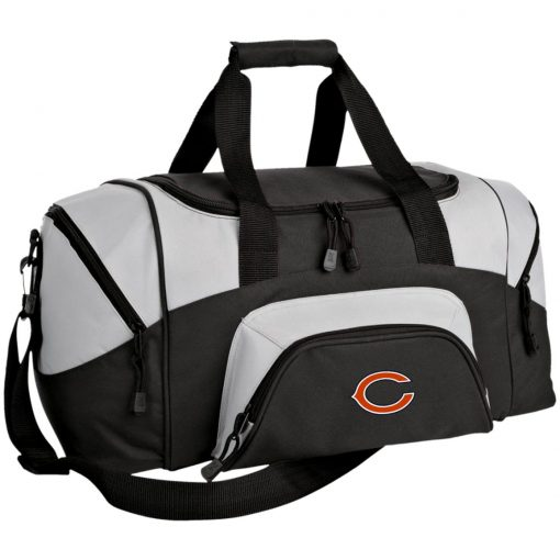 Chicago Bears NFL Pro Line Gray Victory Small Colorblock Sport Duffel Bag
