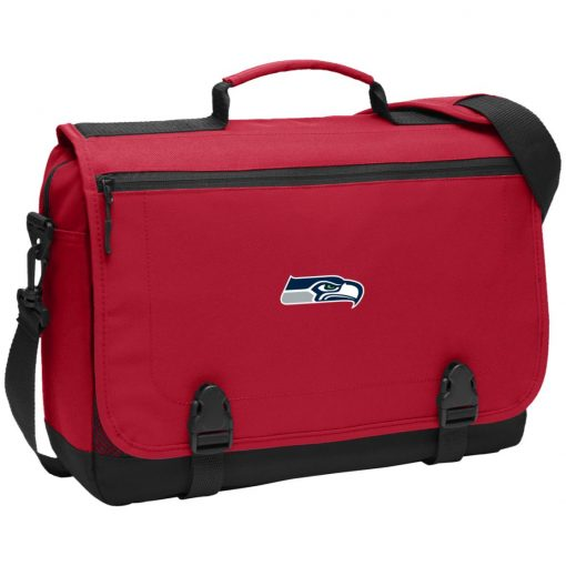 Seattle Seahawks NFL Pro Line Gray Victory BG304 Messenger Briefcase