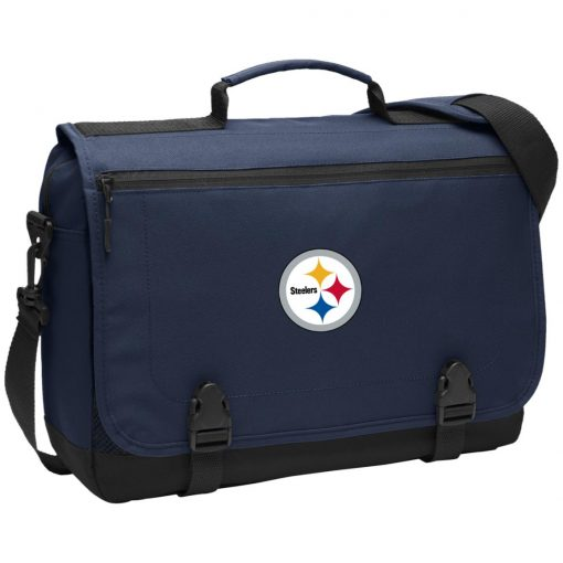 Pittsburgh Steelers NFL Pro Line Gray Victory BG304 Messenger Briefcase