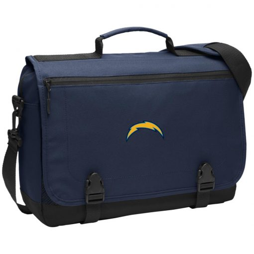 Los Angeles Chargers NFL Pro Line by Fanatics Branded Gray Victory Arch BG304 Messenger Briefcase