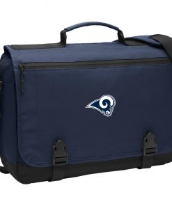 Los Angeles Rams NFL Pro Line by Fanatics Branded Gray Victory BG304 Messenger Briefcase