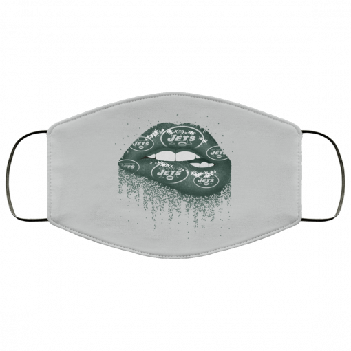 Biting Glossy Lips Sexy New York Jets NFL Football Face Mask