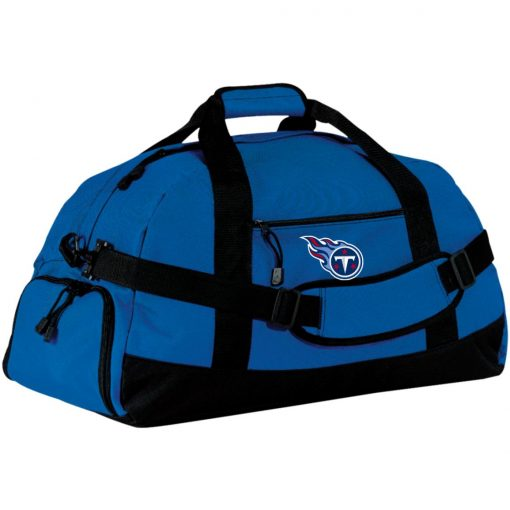Tennessee Titans NFL Pro Line by Fanatics Branded Light Blue Large-Sized Duffel Bag