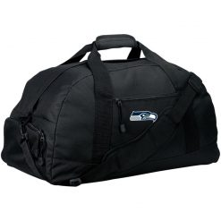 Seattle Seahawks NFL Pro Line Gray Victory Large-Sized Duffel Bag