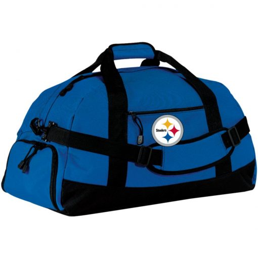 Pittsburgh Steelers NFL Pro Line Gray Victory Large-Sized Duffel Bag