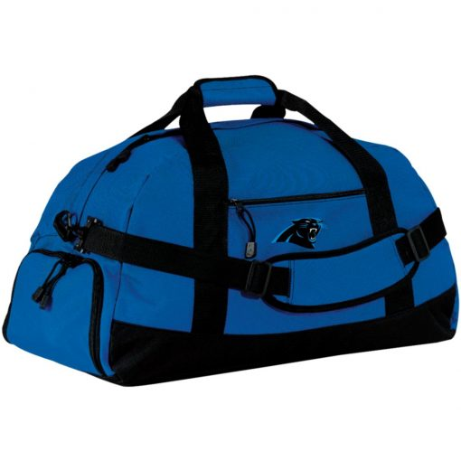 Panthers NFL Pro Line by Fanatics Branded Gray Victory Large-Sized Duffel Bag