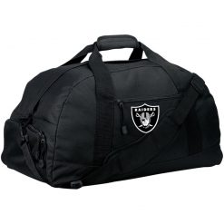 Oakland Raiders NFL Line by Fanatics Branded Black Victory Large-Sized Duffel Bag