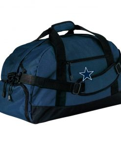 Dallas Cowboys NFL Pro Line by Fanatics Branded Gray Victory Large-Sized Duffel Bag