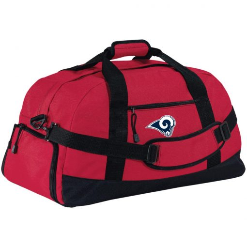 Los Angeles Rams NFL Pro Line by Fanatics Branded Gray Victory Large-Sized Duffel Bag