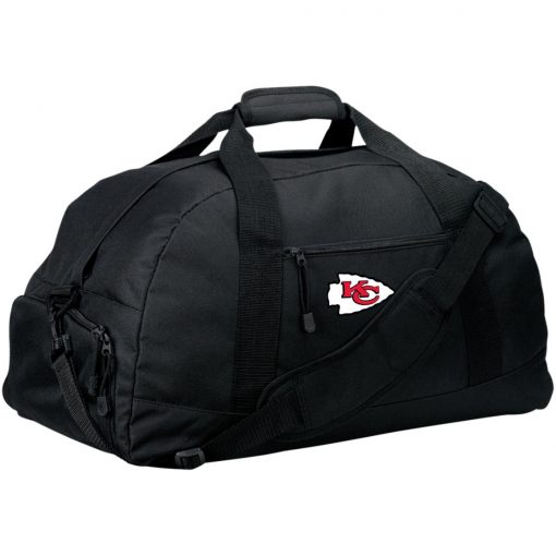 Kansas City Chiefs Line Gray Victory Arch Large-Sized Duffel Bag