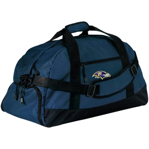Baltimore Ravens NFL Pro Line by Fanatics Branded Gray Victory Large-Sized Duffel Bag