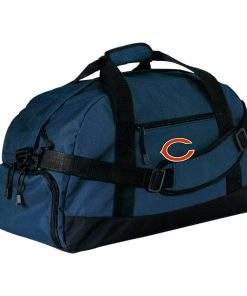 Chicago Bears NFL Pro Line Gray Victory Large-Sized Duffel Bag