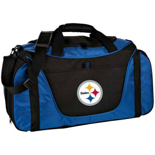 Pittsburgh Steelers NFL Pro Line Gray Victory Medium Color Block Gear Bag