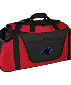 Panthers NFL Pro Line by Fanatics Branded Gray Victory Medium Color Block Gear Bag