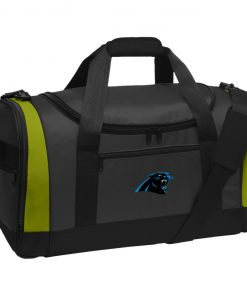 Panthers NFL Pro Line by Fanatics Branded Gray Victory Travel Sports Duffel