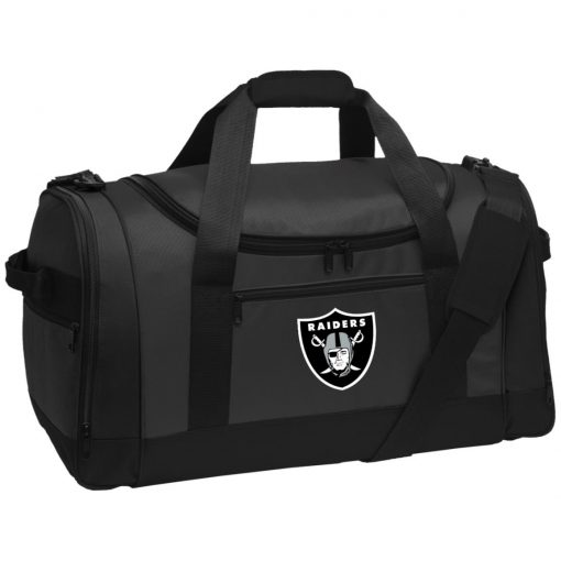 Oakland Raiders NFL Line by Fanatics Branded Black Victory Travel Sports Duffel
