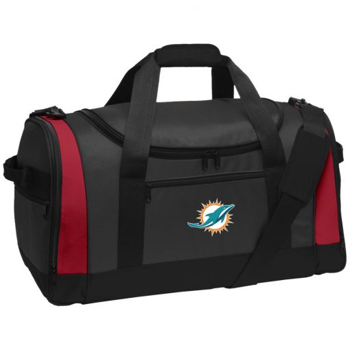 Miami Dolphins NFL Line by Fanatics Branded Aqua Vintage Victory Travel Sports Duffel