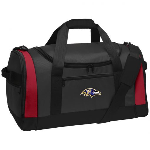 Baltimore Ravens NFL Pro Line by Fanatics Branded Gray Victory Travel Sports Duffel