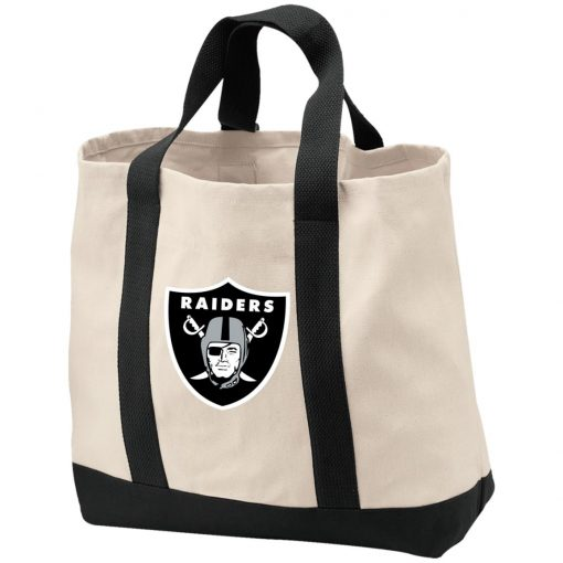 Oakland Raiders NFL Line by Fanatics Branded Black Victory Shopping Tote