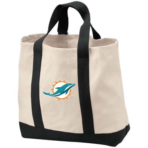 Miami Dolphins NFL Line by Fanatics Branded Aqua Vintage Victory Shopping Tote