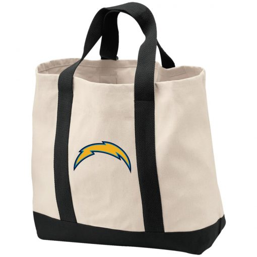 Los Angeles Chargers NFL Pro Line by Fanatics Branded Gray Victory Arch Shopping Tote