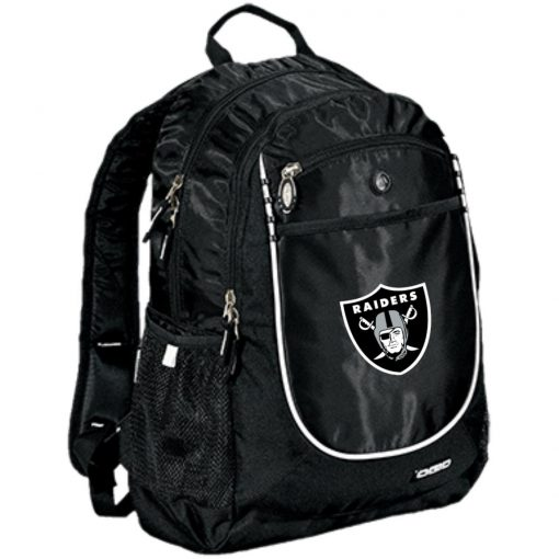 Oakland Raiders NFL Line by Fanatics Branded Black Victory Rugged Bookbag