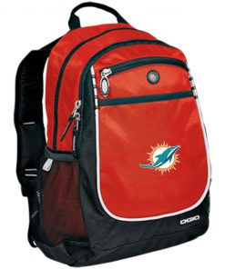 Miami Dolphins NFL Line by Fanatics Branded Aqua Vintage Victory Rugged Bookbag