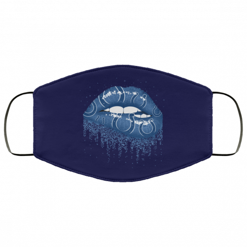 Biting Glossy Lips Sexy Indianapolis Colts NFL Football Face Mask