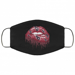 Biting Glossy Lips Sexy Houston Texans NFL Football Face Mask