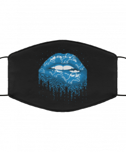 Biting Glossy Lips Sexy Detroit Lions NFL Football Face Mask
