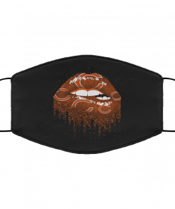 Biting Glossy Lips Sexy Chicago Bears NFL Football Face Mask