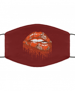 Biting Glossy Lips Sexy Cleveland Browns NFL Football Face Mask