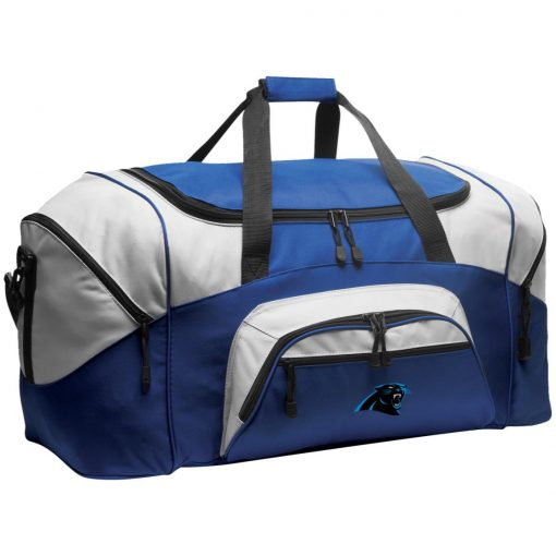 Panthers NFL Pro Line by Fanatics Branded Gray Victory Colorblock Sport Duffel