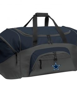 Dallas Cowboys NFL Pro Line by Fanatics Branded Gray Victory Colorblock Sport Duffel