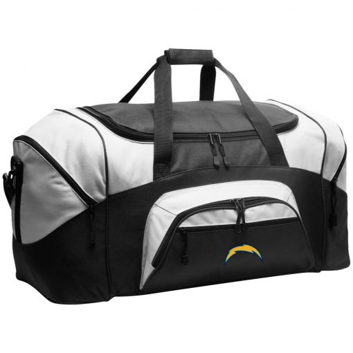 Los Angeles Chargers NFL Pro Line by Fanatics Branded Gray Victory Arch Colorblock Sport Duffel
