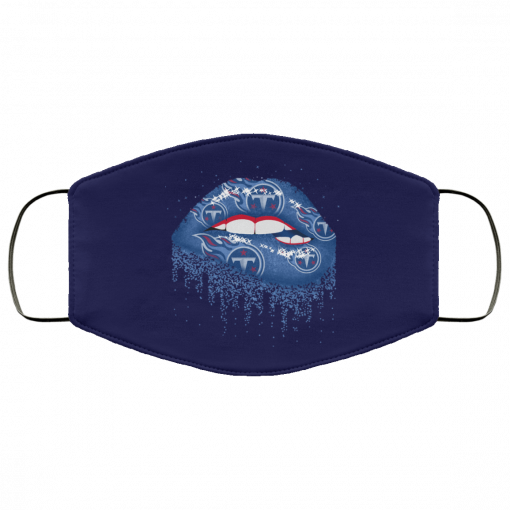 Biting Glossy Lips Sexy Tennessee Titans NFL Football Face Mask
