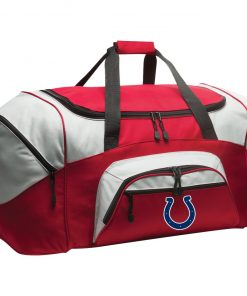 Indianapolis Colts NFL Pro Line Gray Victory Colorblock Sport Duffel