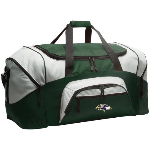 Baltimore Ravens NFL Pro Line by Fanatics Branded Gray Victory Colorblock Sport Duffel