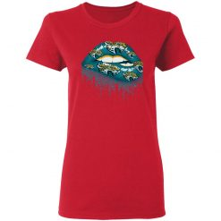 Biting Glossy Lips Sexy Jacksonville Jaguars NFL Football Women T-Shirt