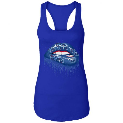 Biting Glossy Lips Sexy Tennessee Titans NFL Football Women Racerback Tank