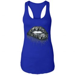 Biting Glossy Lips Sexy Oakland Raiders NFL Football Women Racerback Tank
