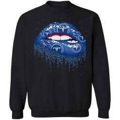 Biting Glossy Lips Sexy Tennessee Titans NFL Football G180 Crewneck Pullover Sweatshirt 8 oz.