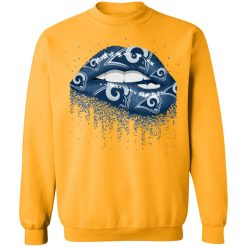 Biting Glossy Lips Sexy Los Angeles Rams NFL Football G180 Crewneck Pullover Sweatshirt 8 oz.